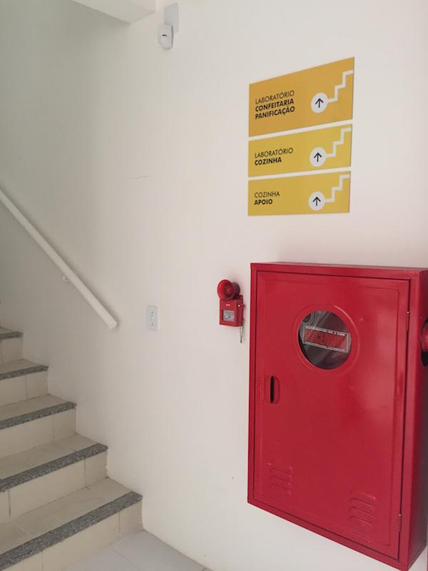 Sinalização Escadaria